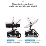 3 in 1 Pram Set Best Travel System Pushchair with Luxury Leather (14)