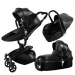3 in 1 Pram Set Best Travel System Pushchair with Luxury Leather (3)