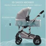 Baby Pram 3 in 1 Travel System Pushchair with Car Seat (1)