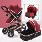 Baby Pram 3 in 1 Travel System Pushchair with Car Seat (11)