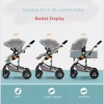 Baby Pram 3 in 1 Travel System Pushchair with Car Seat (2)