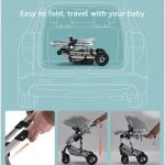 Baby Pram 3 in 1 Travel System Pushchair with Car Seat (5)