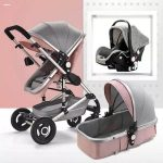 Baby Pram 3 in 1 Travel System Pushchair with Car Seat (9)