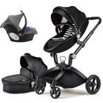 Best 3 in 1 Travel System Pram Hot Mom Pushchair with Car Seat (13)