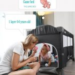 Best Travel Cot with Bassinet Portable Baby Bed (1)