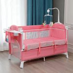 Best Travel Cot with Bassinet Portable Baby Bed (3)