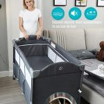 Best Travel Cot with Bassinet Portable Baby Bed (6)