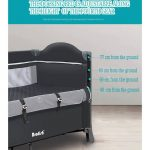 Best Travel Cot with Bassinet Portable Baby Bed (9)