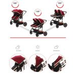 Side by Side Double Pram Double Buggy for Newborn and Toddler (1)