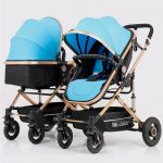 Side by Side Double Pram Double Buggy for Newborn and Toddler (2)