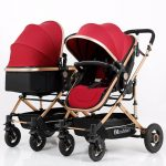 Side by Side Double Pram Double Buggy for Newborn and Toddler (3)