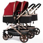 Side by Side Double Pram Double Buggy for Newborn and Toddler (4)