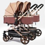 Side by Side Double Pram Double Buggy for Newborn and Toddler (5)