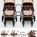 Side by Side Double Pram Double Buggy for Newborn and Toddler (6)