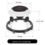 Adjustable Baby Walker for Baby Boy and Girl Sit in Baby Walker with Wheels (7)