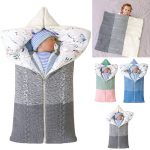 Newborn Baby Sleeping Bag Swaddle Blankets for 0-12 Months (4)