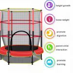 4.5 Ft Trampoline with Enclosure Kid Mini Trampoline for Indoor and Outdoor (1)