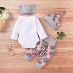 Cute Newborn Baby Girl Clothes Outfits Baby Pink Baby Girl Bodysuits (4)