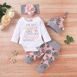 Cute Newborn Baby Girl Clothes Outfits Baby Pink Baby Girl Bodysuits (5)