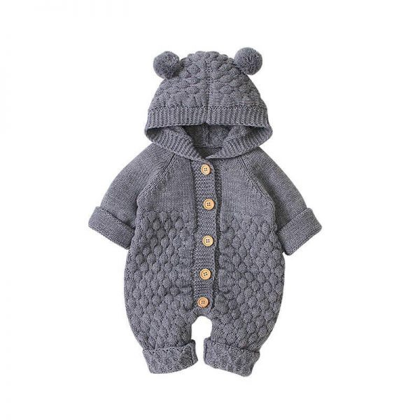 gray Knitted Baby Clothes