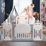 Portable Baby Playpen Safety Gates Kid Activity Centre Baby Fence 14 Panels (10)