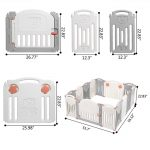Portable Baby Playpen Safety Gates Kid Activity Centre Baby Fence 14 Panels (5)