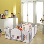 Portable Baby Playpen Safety Gates Kid Activity Centre Baby Fence 14 Panels (8)