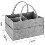 Baby Changing Bag Nursery Storage Baskets Organizer for Diapers (4)