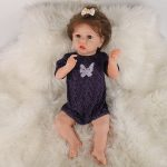 """22"""" Cute Silicone Reborn Dolls Real Life Looking Baby Doll with Clothes"""