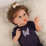 """22"""" Cute Silicone Reborn Dolls Real Life Looking Baby Doll with Clothes (2)"""