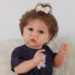"""22"""" Cute Silicone Reborn Dolls Real Life Looking Baby Doll with Clothes (3)"""