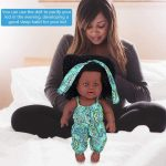 African American Reborn Dolls with Jumpsuits Vinyl Lifelike Baby Dolls for Kids (4)