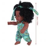 African American Reborn Dolls with Jumpsuits Vinyl Lifelike Baby Dolls for Kids (5)