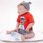 Reborn Baby Boy Doll Sleeping Realist Doll with Cute Cothes (2)
