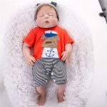 Reborn Baby Boy Doll Sleeping Realist Doll with Cute Cothes (3)