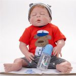 Reborn Baby Boy Doll Sleeping Realist Doll with Cute Cothes (4)