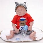 Reborn Baby Boy Doll Sleeping Realist Doll with Cute Cothes (5)