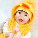 Reborn Baby Girl with Yellow Clothes Baby Doll That Looks Real (1)