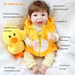 Reborn Baby Girl with Yellow Clothes Baby Doll That Looks Real (3)