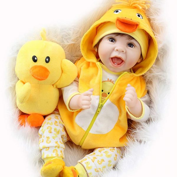 Reborn Baby Girl with Yellow Clothes Baby Doll That Looks Real