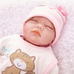 Sleeping Real Lifelike Baby Doll with Pink Clothes (1)