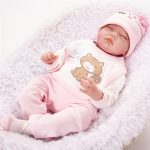 Sleeping Real Lifelike Baby Doll with Pink Clothes (3)